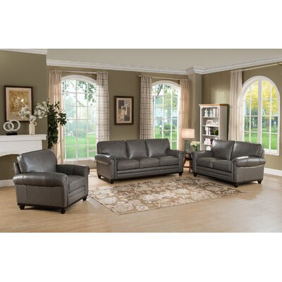 Stafford Leather Configurable Living Room Set
