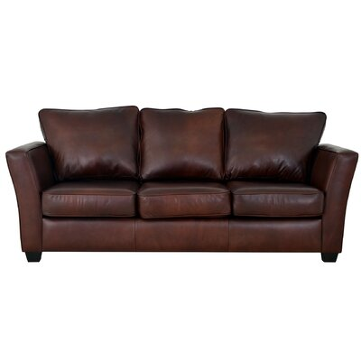 Bridgeport Genuine Top Grain Leather Sofa Upholstery: Burnham Black