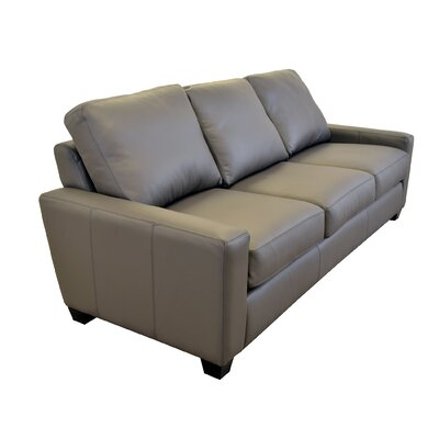 Hanson Genuine Top Grain Leather Sofa Upholstery: Burnham Oatmeal