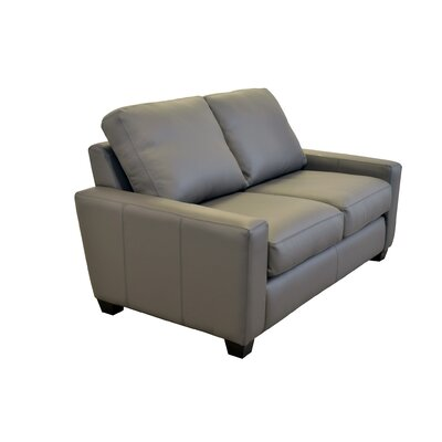 Hanson Genuine Top Grain Leather Loveseat Upholstery: Burnham Oatmeal