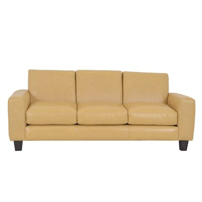 Columbia Genuine Top Grain Leather Sofa Upholstery: Burnham Vanilla