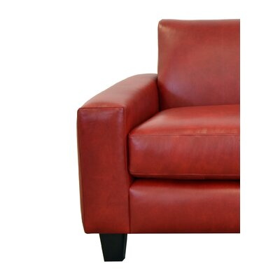 Columbia Genuine Top Grain Leather Loveseat Upholstery: Brompton Deep Red