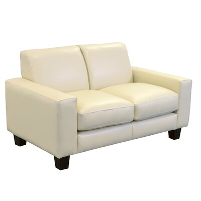 Columbia Genuine Top Grain Leather Loveseat Upholstery: Burnham Vanilla