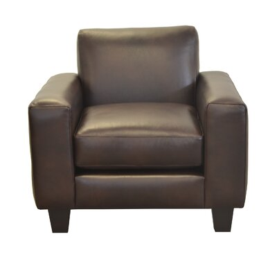 Columbia Genuine Top Grain Leather Club Chair Upholstery: Distressed Dark Brown