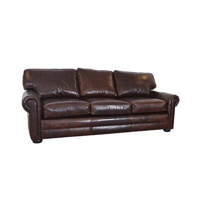 Fenway Studio Genuine Top Grain Leather Sofa Upholstery: Brompton Brown