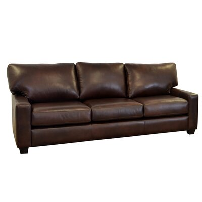 Kenmore Studio Genuine Top Grain Leather Sofa Upholstery: Burnham Black