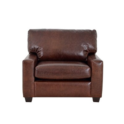 Kenmore Studio Genuine Top Grain Leather Club Chair Upholstery: Distressed Dark Brown