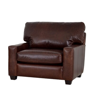 Kenmore Studio Genuine Top Grain Leather Club Chair Upholstery: Brompton Brown