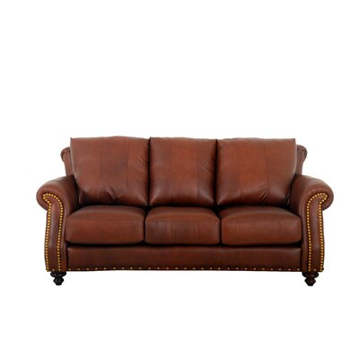 Randolph Leather Sofa Upholstery: Berkshire Charcoal