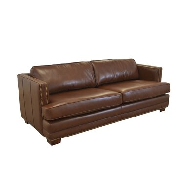 Millbury Genuine Top Grain Leather Sofa Upholstery: Brompton Brown