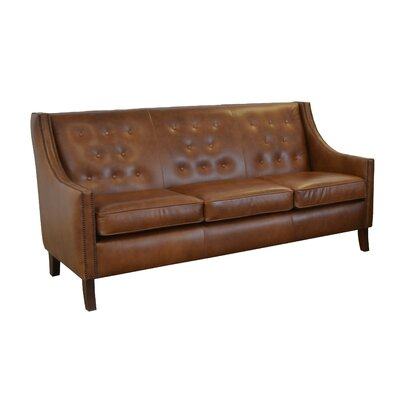 Woburn Genuine Top Grain Leather Sofa Upholstery: Distressed Whiskey