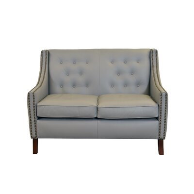 Woburn Genuine Top Grain Leather Loveseat Upholstery: Burnham Vanilla