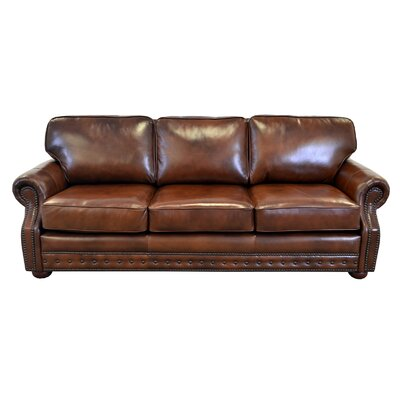 Middleton Genuine Top Grain Leather Sofa Upholstery: Brompton Brown