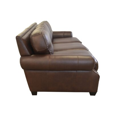 Middleton Genuine Top Grain Leather Sofa Upholstery: Burnham Black