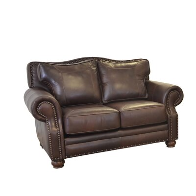 Westford Genuine Top Grain Leather Sofa Upholstery: Distressed Whiskey