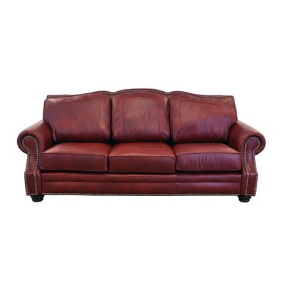 Winchester Genuine Top Grain Leather Sofa Upholstery: Brompton Deep Red