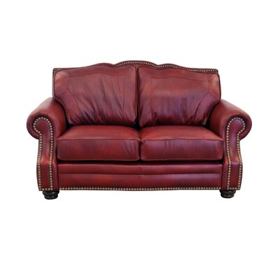 Winchester Genuine Top Grain Leather Sofa Upholstery: Burnham Black