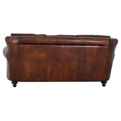 Clinton Genuine Top Grain Leather Sofa Upholstery: Brompton Brown