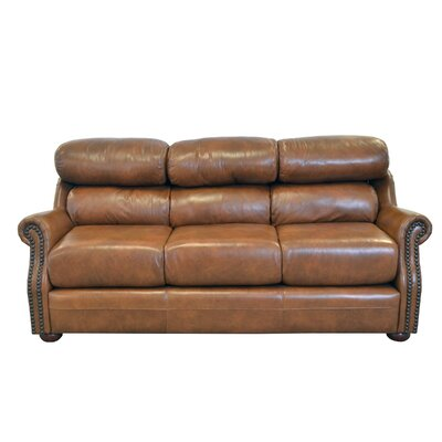 Beacon Genuine Top Grain Leather Sofa Upholstery: Distressed Dark Brown