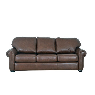 Heath Leather Sofa Upholstery: Distressed Dark Brown