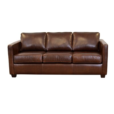 Salisbury Genuine Top Grain Leather Sofa Upholstery: Distressed Dark Brown