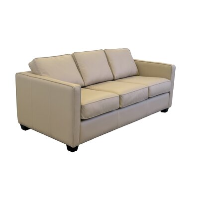 Salisbury Genuine Top Grain Leather Sofa Upholstery: Burnham Oatmeal