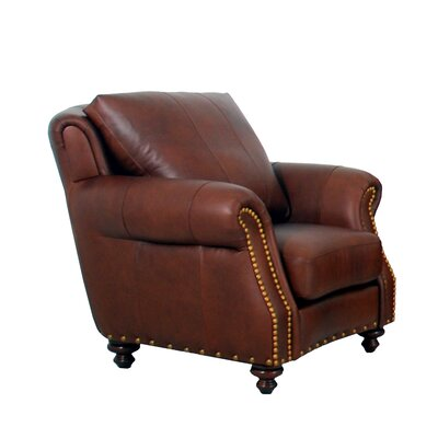 Randolph Genuine Top Grain Club Chair Upholstery: Burnham Black