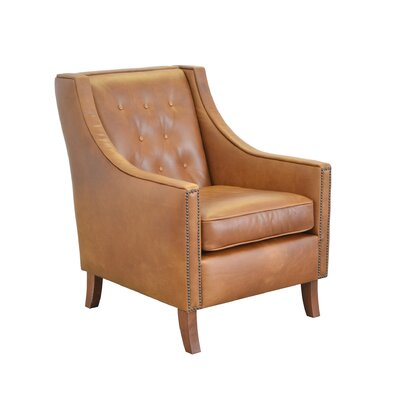Woburn Genuine Top Grain Club Chair Upholstery: Distressed Whiskey