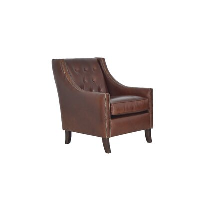 Woburn Genuine Top Grain Club Chair Upholstery: Brompton Brown