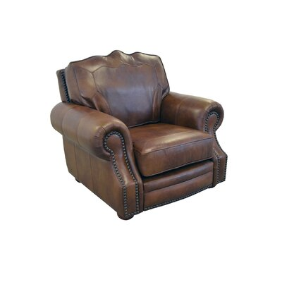 Winchester Genuine Top Grain Leather Club Chair Upholstery: Burnham Black