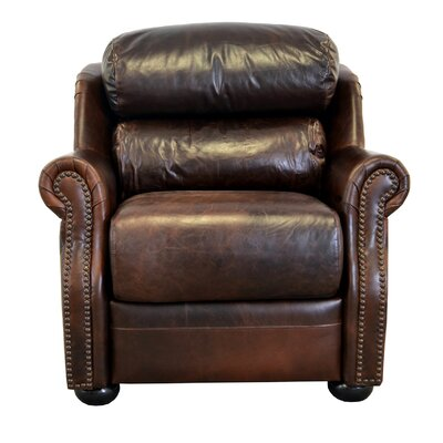 Beacon Genuine Top Grain Leather Club Chair Upholstery: Berkshire Dark Brown