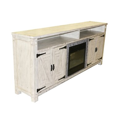 Pedroy 86 TV Stand with Fireplace
