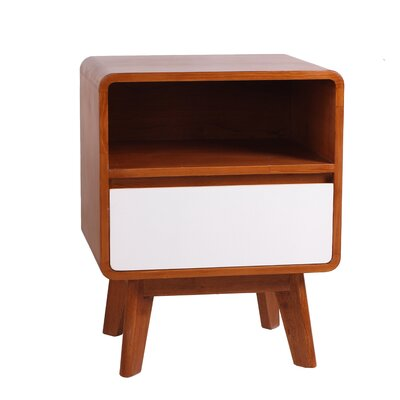 Wendy End Table Color: White