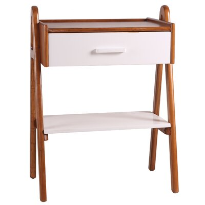 Ginger End Table Color: White