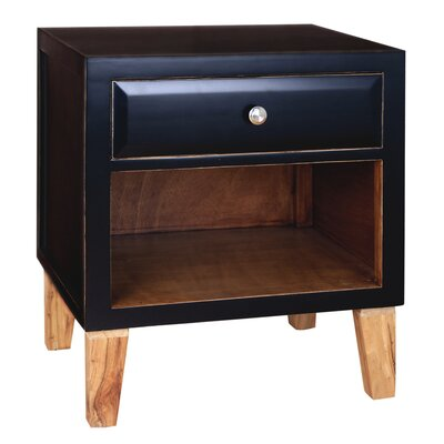 Fauna End Table Color: Black