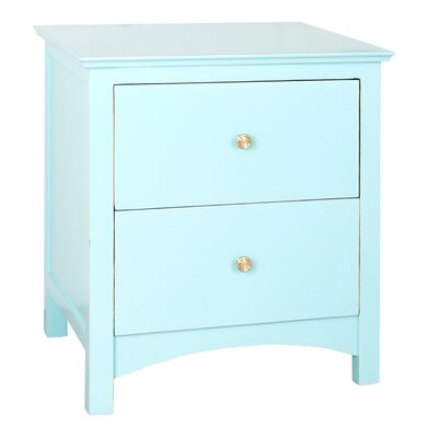 Holly End Table Color: Aqua