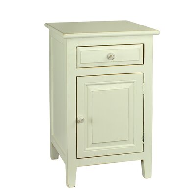 Ellen Mae 1 Drawer Nightstand Color: White