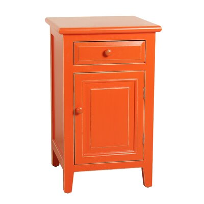Ellen Mae 1 Drawer Nightstand Finish: Orange