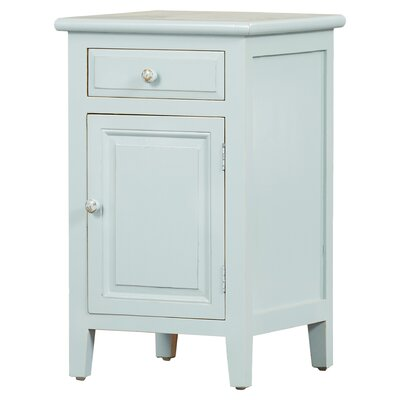 Ellen Mae 1 Drawer Nightstand Color: Aqua
