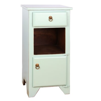 PL Home 1 Drawer Bistre Nightstand Color: Aqua