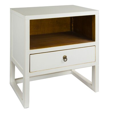 Evilly End Table Color: White