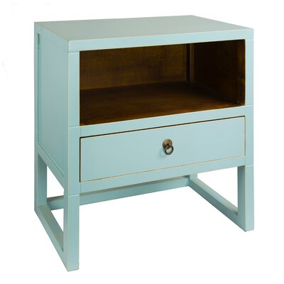 Evilly End Table Color: Aqua