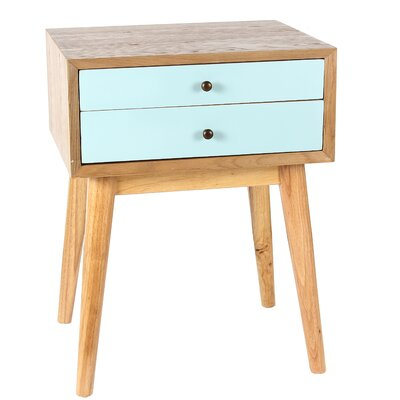 Wright End Table Finish: Aqua