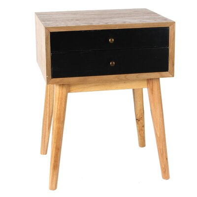 Mia Wright End Table Color: Black