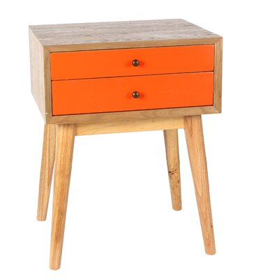 Mia Wright End Table Color: Orange