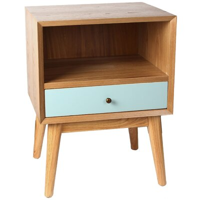 Oakdale End Table Color: Aqua