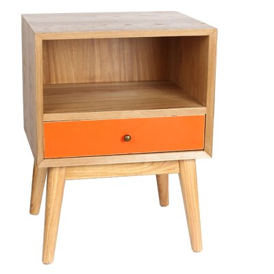 Jacobson End Table Finish: Orange