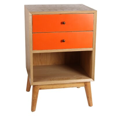 Lange End Table Finish: Orange