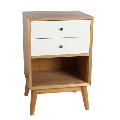 Lange End Table Finish: White