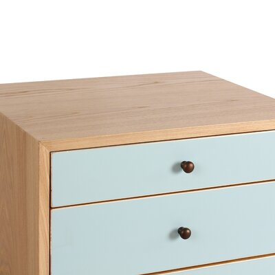 Malcolm End Table Color: Aqua